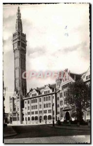 Lille - L & # 39Hotel City and its belfry - Old Postcard