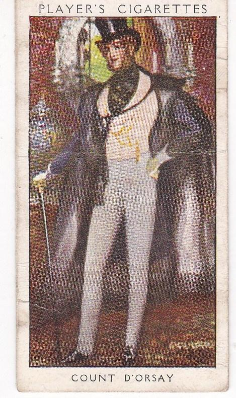 Cigarette Card Player's Dandies No 37 Count d'Orsay