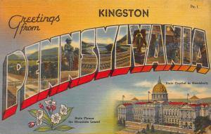 Greetings from Kingston, Pennsylvania, Early Postcard, Unused