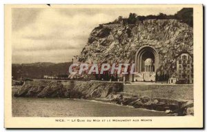 Old Postcard Nice Quai Du Midi And The Monument Aux Morts