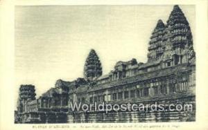 Ruines D'Angkor Cambodia, Cambodge An Kor Vath, Aile Est de la Façade Ruines...