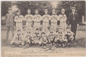 RARE RICHMOND HILL LOCAL MAGNOLIA BASEBALL TEAM, QUEENS LONG ISLAND NYC