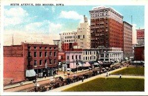 Iowa Des Moines Sixth Avenue