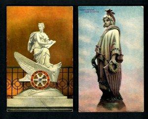 I 1 D.C.2 pcs Armed Liberty Bronze statue, Franzoni's Clock Natl. Statuary Ct.
