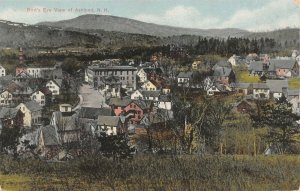 Ashland New Hampshire~Hilltop View Overlooking Homes~Downtown~1910 Postcard