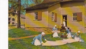 North Carolina Winston Salem Women Bleaching Cloth In Old Salem