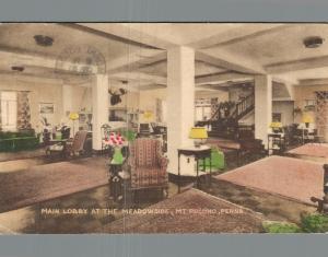 USA - Main Lobby at the Meadowside Mt Pocono hotel 01.65