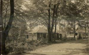 Canobie Lake NH Cottages c1915 Real Photo Postcard