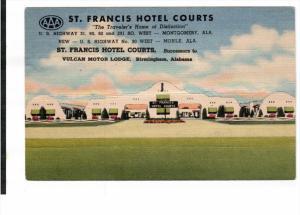 BIRMINGHAM, Alabama, PU-1953; St. Francis Hotel Courts, U.S. Highway 90