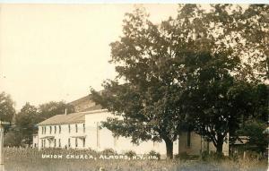 Almond New York 1936 Union Church RPPC real photo postcard 9546