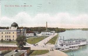 Illinois Rockford West River Front 1912