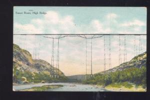 SUNSET ROUTE RAILROAD TRAIN BRIDGE HIGH BRIDGE VINTAGE POSTCARD