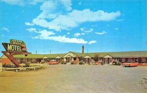 Burley ID Green Well Motel Old Cars Postcard