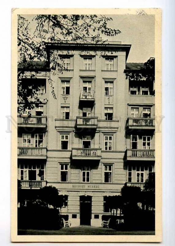 236469 CZECH FRANZENSBAD Kurhaus Merkur ADVERTISING RPPC