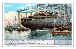 Leaving the Pile, Building a Transatlantic Ocean Liner Liebig Belgian Trade Card