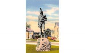 Massasoit Statue on Coles' Hill in Plymouth, Massachusetts