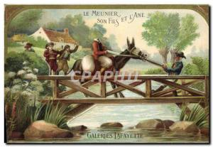 Old Postcard The Miller His Son And L & # 39Ane At Galeries Lafayette