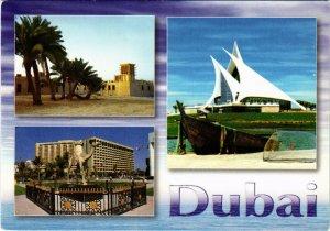 PC CPA U.A.E. , DUBAI, VIEWS OF DUBAI, REAL PHOTO POSTCARD (b16412)