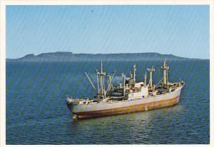 Canada Cargo Ship Leaving Thunder Bay