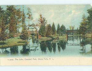 Unused Pre-1907 PARK SCENE Glens Falls New York NY r7506