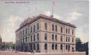 Exterior, Post Office, Springfield, Illinois,PU-1911
