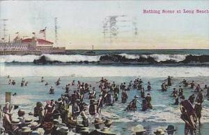 California Long Beach Bathing Scene