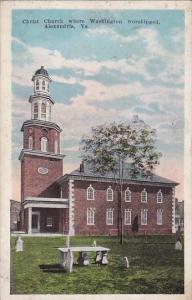 Virginia Alexandrla Christ Church Where Washington Worshipped