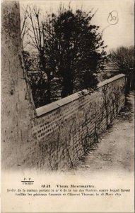 CPA PARIS 18e - Jardin de la maison portant... (59552)