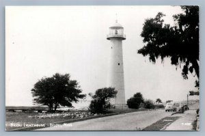 BILOXI MS LIGHT HOUSE VINTAGE REAL PHOTO POSTCARD RPPC