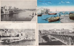Taranto Italy 4x Antique Italian Water Nautical Views Postcard s