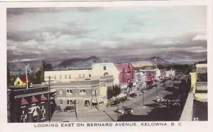RP; Hand-colored, Looking East on Bernard Avenue, Kelowna, British Columbia, ...