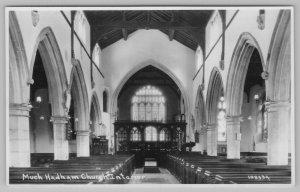 Much Hadham Hertfordshire~Roman Catholic Church~Stained Glass Windows~RPPC 1920s