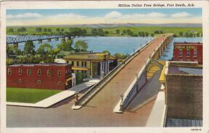Million Dollar Free Bridge, Fenolio Hotel, FORT SMITH, Arkansas, PU-1942