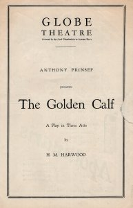 Patrick Waddington The Golden Calf Dads Army TV Show Globe Theatre Programme