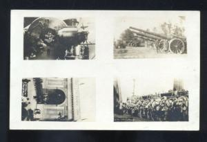 RPPC MILITARY MULTI VIEW VINTAGE WWI REAL PHOTO POSTCARD ARTILLERY GUNS