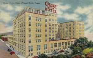 Crazy Water Hotel Mineral Wells TX Postal Used Unknown