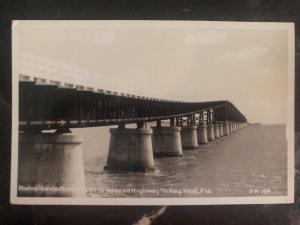 Mint Usa RPPC Real Picture Postcard Bahia Honda Bridge US 1 Key West Fl