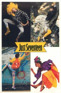 Postcard graphic just seventeen 4 young people costumes
