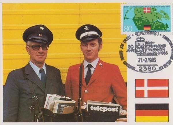 German Schleswig Postman Mail Worker Germany First Day Cover Rare Postcard