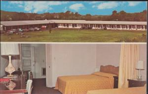 NASHVILLE TN - SPLIT VIEW of the Parkview Motel & Restaurant, 1950s era