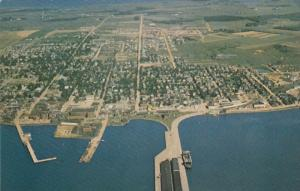 Aeriel view of SUMMERSIDE , P.E.I. , Canada , 50-60s
