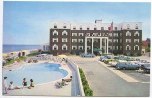 Virginia Beach VA The Sir Walter By The Sea Motel Old Cars Postcard