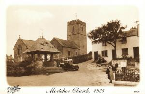 Vintage 1935 Reproduction Postcard, Mortehoe Church, Devon 51U