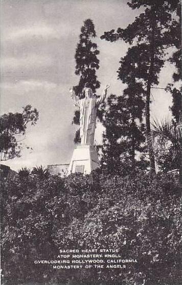 Califorinia Hollywood Sacred Hart Statue A Top Monastery Artvue