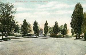 Boston Massachusetts~Fenway~Entrance~Monument c1910 Postcard