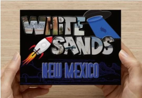 Large Letter Post Card, Real White Sands New Mexico Photographs