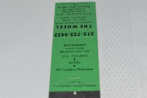 The Wheel Union 76 Truck Stop Romulus Michigan 20 Strike Matchbook Cover
