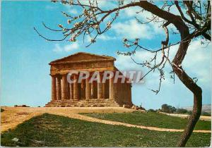 Postcard Modern Agrigento Temple of Concord