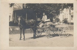 RP: DOWNER'S GROVE, Illinois, 1900-10s ; J.W.Nash Grocery Delivery Wagon