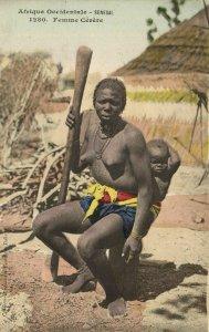 CPA AK Senegal Ethnic Nude Fortier - 1280. Femme Cérére (71184)